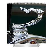 Cadillac Hood Ornament Shower Curtain