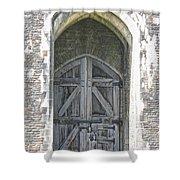 Caerphilly Castle Gate Shower Curtain