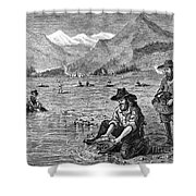 California Gold Rush Shower Curtain by Granger