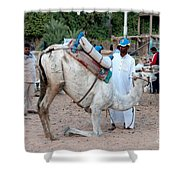 Camel Riders Shower Curtain