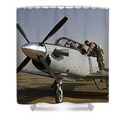 Camp Speicher, Iraq - U.s. Air Force Shower Curtain