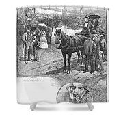 Canada: Church, 1883 Shower Curtain