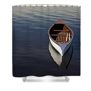 Canoe On Gander River, Gander Bay Shower Curtain