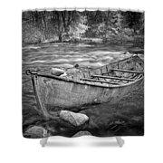 Canoe On The Thornapple River Shower Curtain