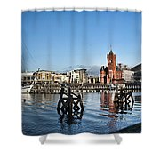 Cardiff Bay Panorama Shower Curtain