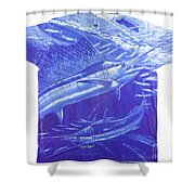 Carey Chen Mens Sailfish Shirt Shower Curtain