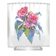 Carmel Begonias Shower Curtain