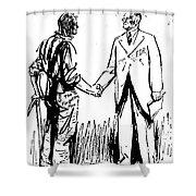 Cartoon: Fdr & Workingmen Shower Curtain