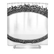 Cartouche, 19th Century Shower Curtain