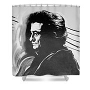 Cash In Black And White Shower Curtain