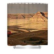 Castle Butte In Big Muddy Valley Of Saskatchewan Shower Curtain