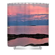 Cattle Point And The Strait Of Juan De Fuca Shower Curtain