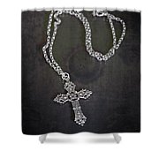 Celtic Cross Shower Curtain by Joana Kruse