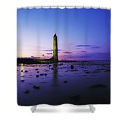 Chaine Memorial Tower, Larne Harbour Shower Curtain