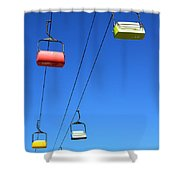 Chairlift Cars Shower Curtain