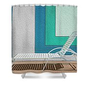 Chaising Shower Curtain by Paul Wear
