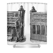 Chapel Organ, 19th Century Shower Curtain