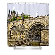 Charles Bridge And Prague Castle Shower Curtain
