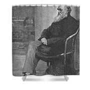 Charles Robert Darwin, English Shower Curtain