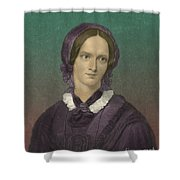 Charlotte Bronte, English Author Shower Curtain