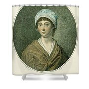 Charlotte Corday Shower Curtain by Granger