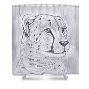Cheeta Watching Shower Curtain