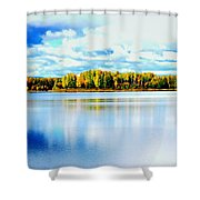 Chena Lakes Shower Curtain