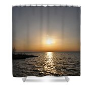 Chesapeake Bay Sunset Shower Curtain