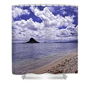 Chinaman S Hat From Kualoa Shower Curtain