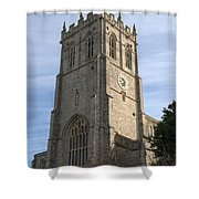 Christchurch Priory Bell Tower Shower Curtain
