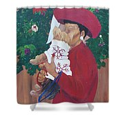 Christmas Lioness Shower Curtain