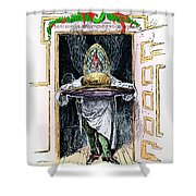Christmas Pudding, 1882 Shower Curtain