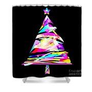 Christmas Tree Design Shower Curtain