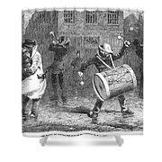 Christmas Waits, 1853 Shower Curtain