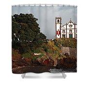 Church By The Sea Shower Curtain by Gaspar Avila