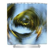 Circular Palm Blur Shower Curtain