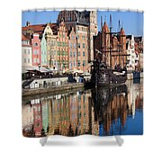 City Of Gdansk Shower Curtain