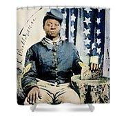 Civil War: Black Soldier Shower Curtain
