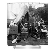 Civil War: Camp Life, 1861 Shower Curtain