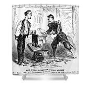 Civil War Cartoon Shower Curtain