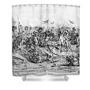 Civil War: Cavalry Charge Shower Curtain