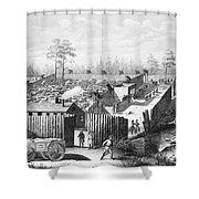 Civil War: Prison, 1864 Shower Curtain