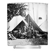Civil War: Signal Corps Shower Curtain