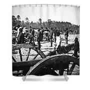 Civil War: Union Artillery Shower Curtain