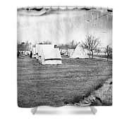 Civil War: Union Camp, 1863 Shower Curtain