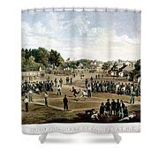 Civil War: Union Prisoners Shower Curtain