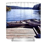 Clear Lake At Mckenzie Pass Shower Curtain