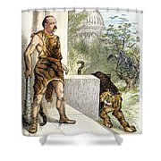 Cleveland Cartoon, 1884 Shower Curtain