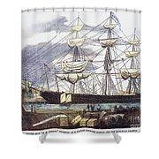 Clipper Ship, 1851 Shower Curtain
