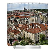 Clock Tower View - Prague Shower Curtain